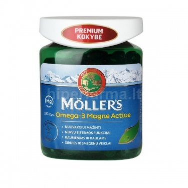 Maisto papildas Mollers Omega-3 MAGNE ACTIVE N100