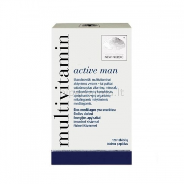 Maisto papildas MULTIVITAMIN ACTIVE MAN N120