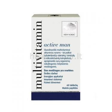 Maisto papildas MULTIVITAMIN ACTIVE MAN N60